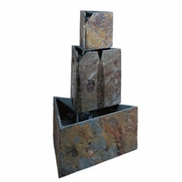 Stacked Triangle Geometric Fountain Natural Slate - 50290SLCOP