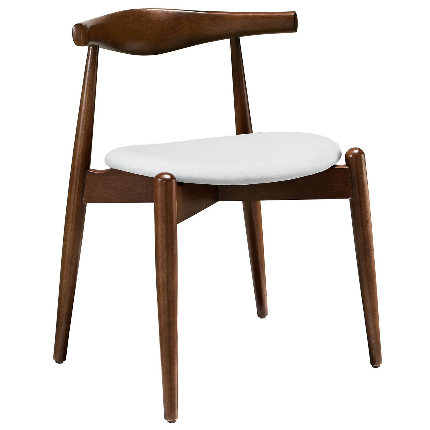 Stalwart contemporary solid wood dining side chair with for Dining chairs dark wood