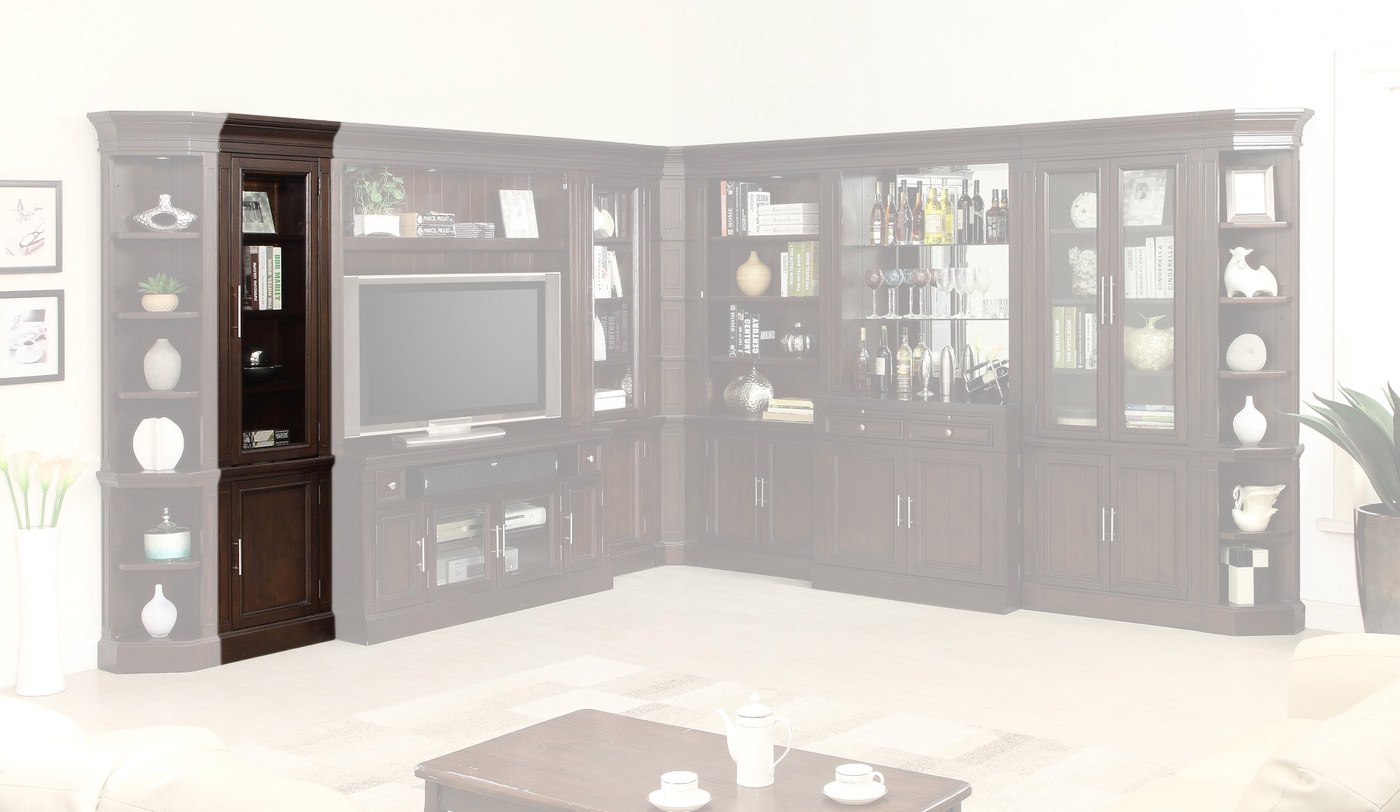 Stanford Transitional 22 In Glass Door Cabinet Finished In Light