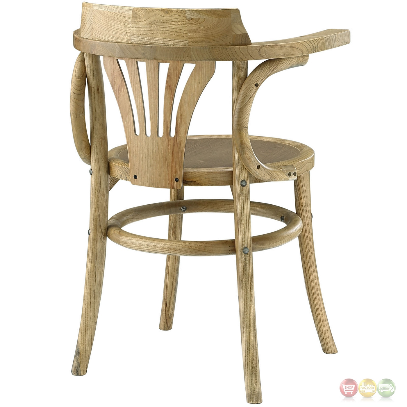 stretch modern rustic solid wood round seat dining side chair natural. Black Bedroom Furniture Sets. Home Design Ideas