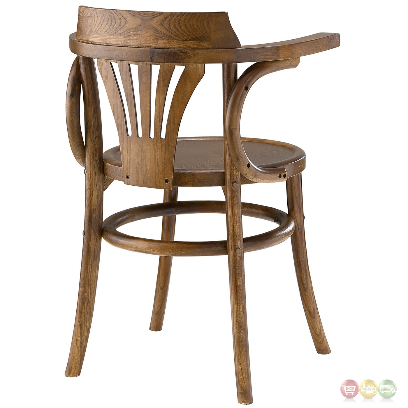 Stretch Modern Rustic Solid Wood Round Seat Dining Side ...