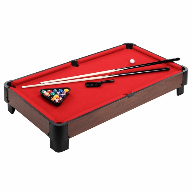Carmelli Striker 40-in Portable Billiards Red Table Top Pool Table w/Accessories