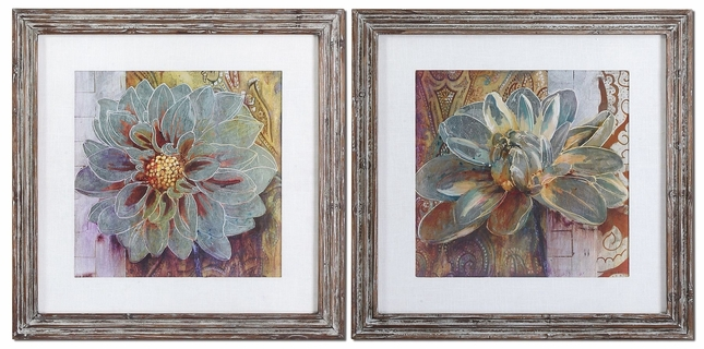 Sublime Truth Set of 2 Floral Art 34036