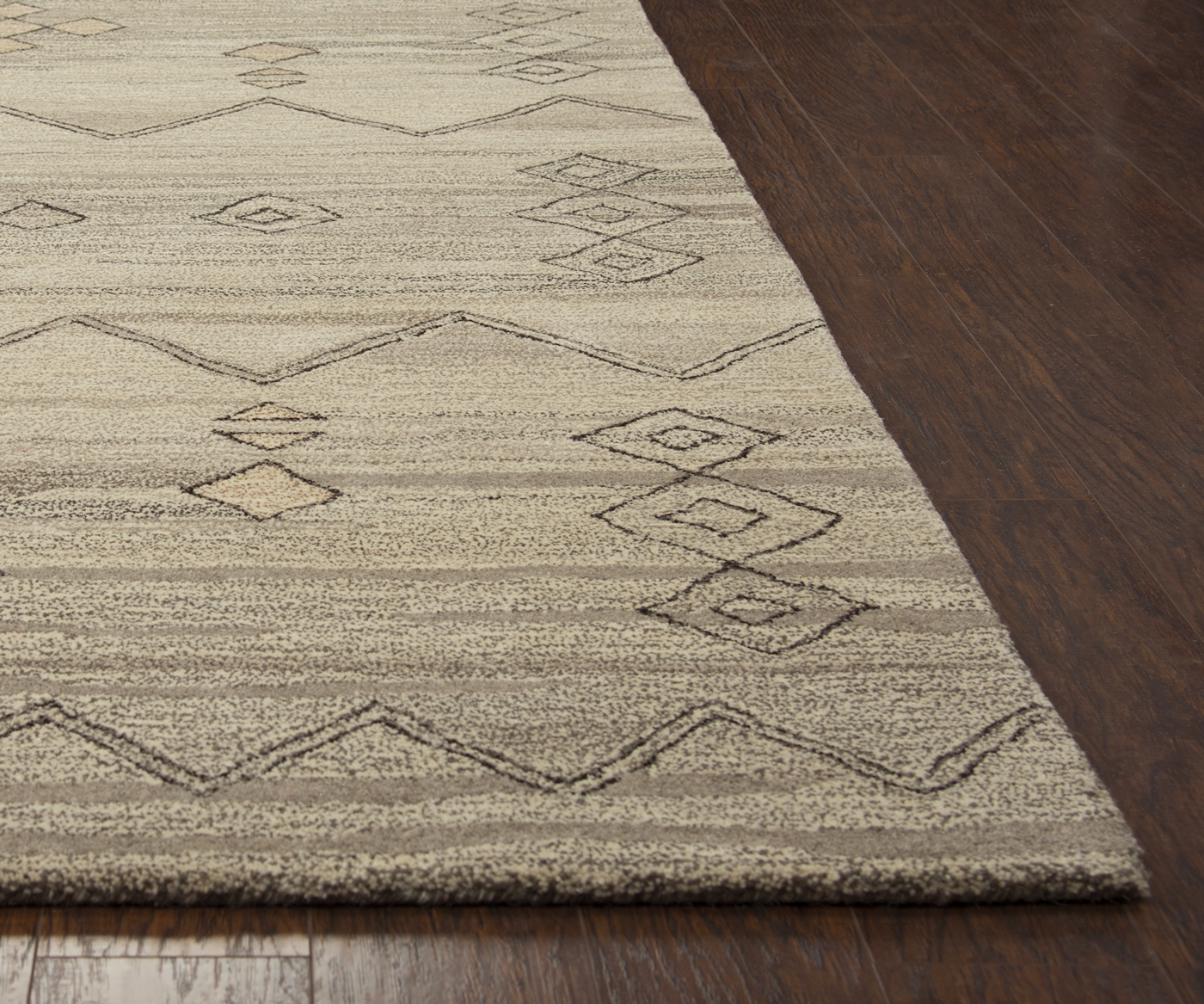 Suffolk Basic Moroccan Wool Area Rug In Gray Amp Natural 9
