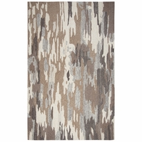 """Rizzy Home Suffolk Wool Rectangle Runner Area Rug 2'6""""x 8'Brown Natural Abstract"""