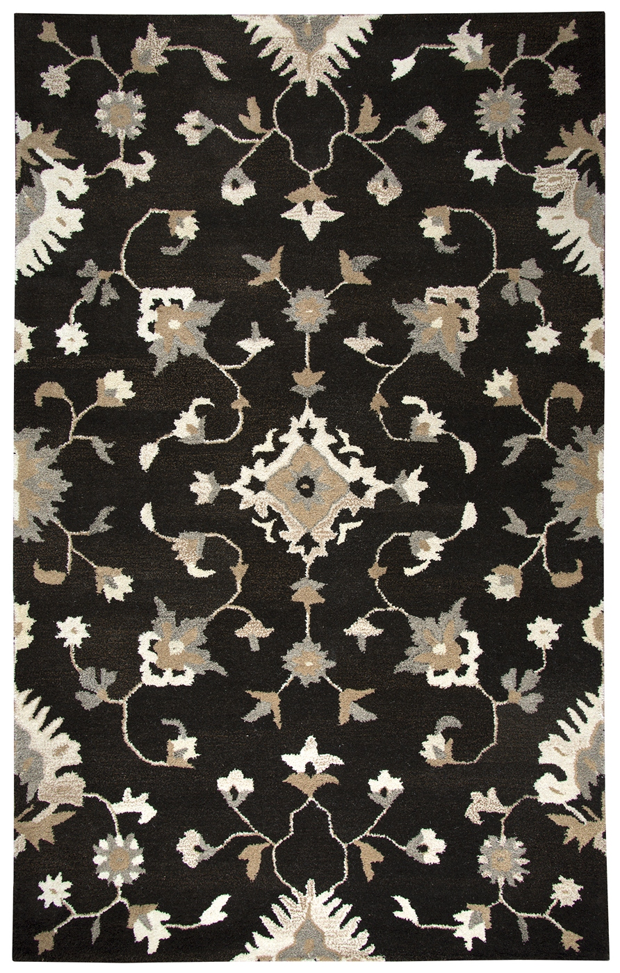 suffolk floral vines wool area rug in brown natural 10 39 x 13 39. Black Bedroom Furniture Sets. Home Design Ideas