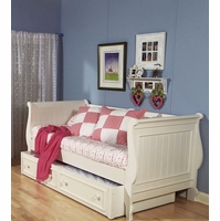 Summer Breeze Simple White Cottage Twin Youth Daybed