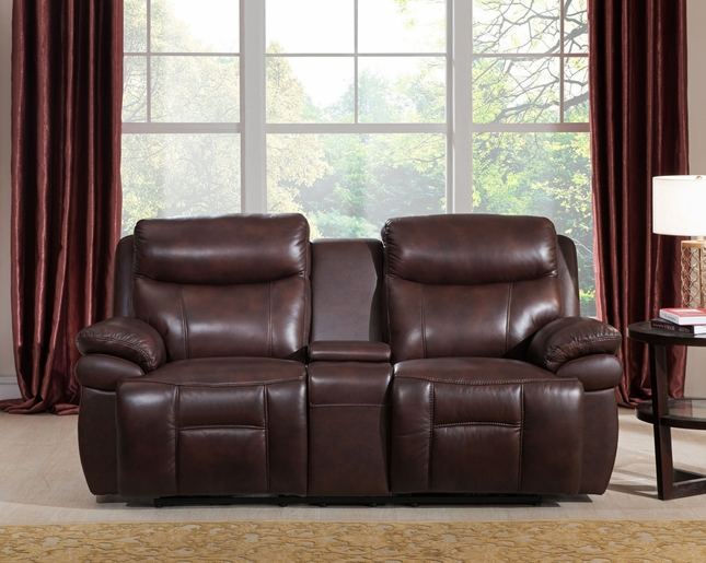 Summerlands Real Genuine Leather Full Power Recline Loveseat In Burnt Umber & Real Genuine Leather Full Power Recline Loveseat In Burnt Umber islam-shia.org