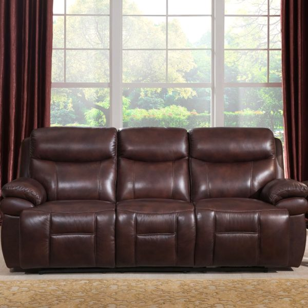 Superb Summerlands Real Genuine Leather Full Power Recline Sofa In Andrewgaddart Wooden Chair Designs For Living Room Andrewgaddartcom