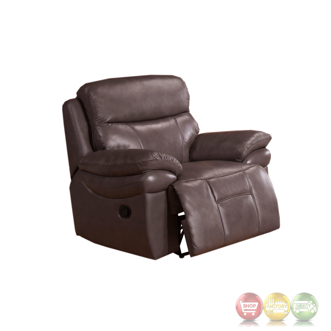 Summerlands Lay Flat 3pc Reclining Sofa Set In Genuine