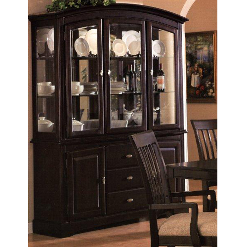 Sunrise China Cabinet Cappuccino Formal, Modern Formal Dining Room Sets With China Cabinet