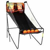 Carmelli Sure Shot Dual Foldable Indoor Electronic Basketball Game with Balls
