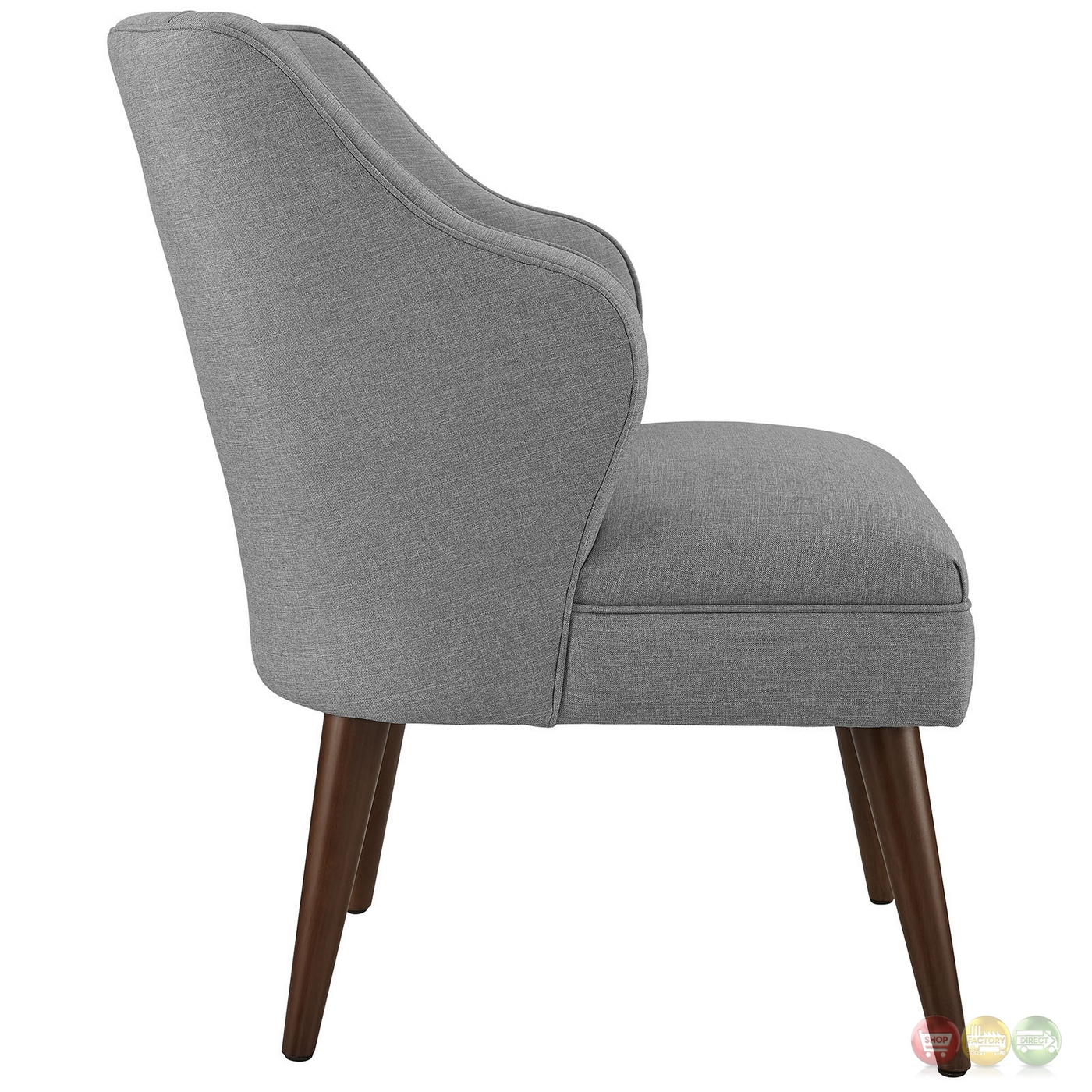 Swell modern fabric upholstered armchair with dowel wood for Armchair builder