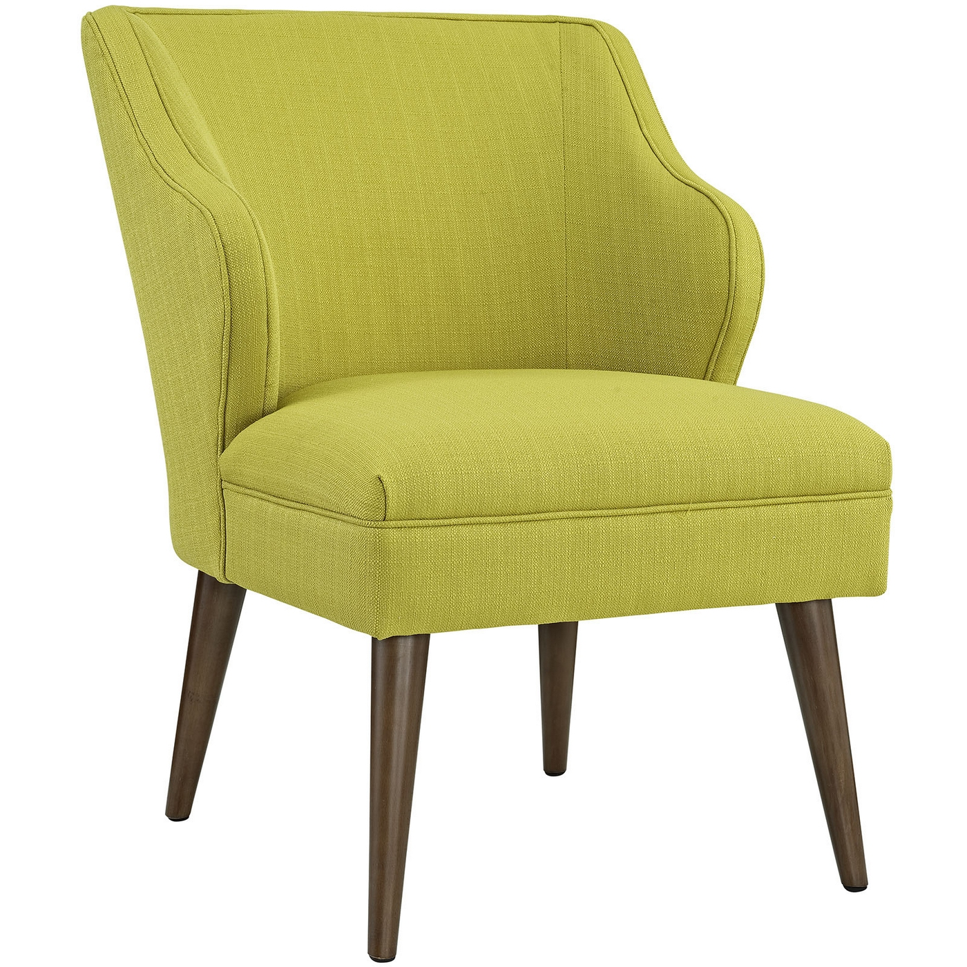 Swell Modern Fabric Upholstered Armchair With Dowel Wood ...