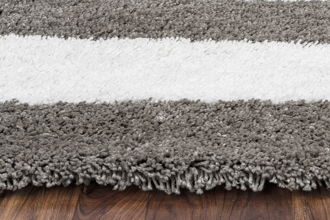Tabor Belle Plush Stripe Pattern Area Rug In Ivory Amp Dark