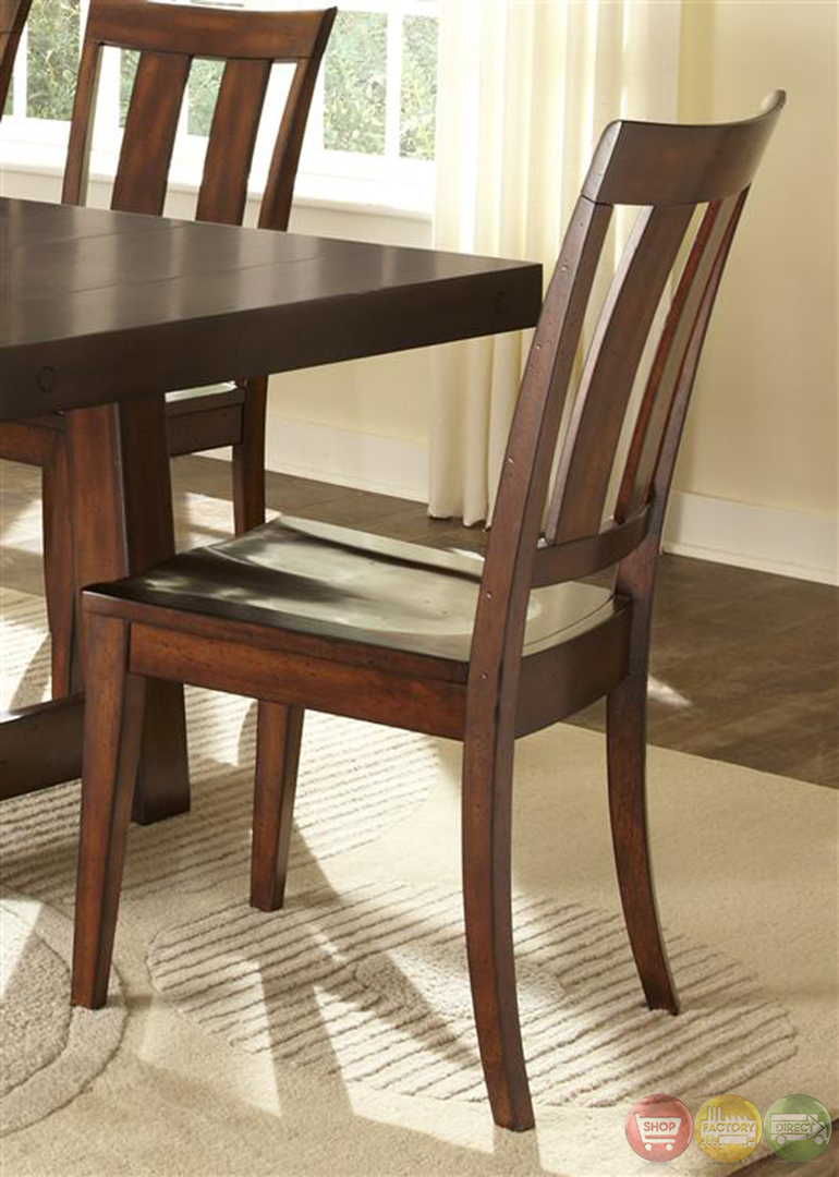 Tahoe Rustic Style Mahogany Finish Dining Room Set