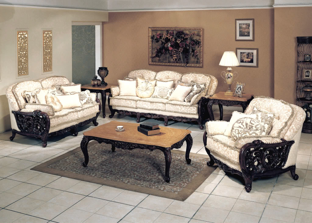 Living room sets luxury for Formal sofa sets