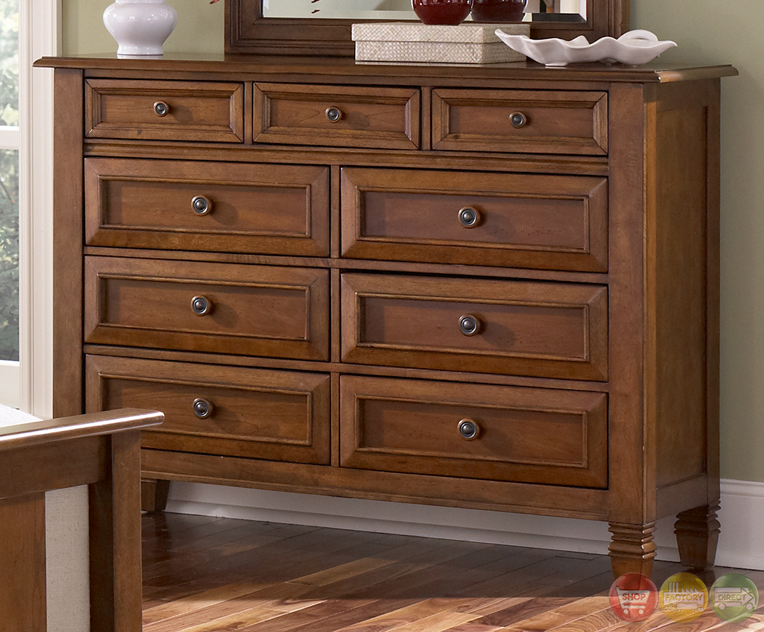 taylor springs bronze cherry finish sleigh bedroom set