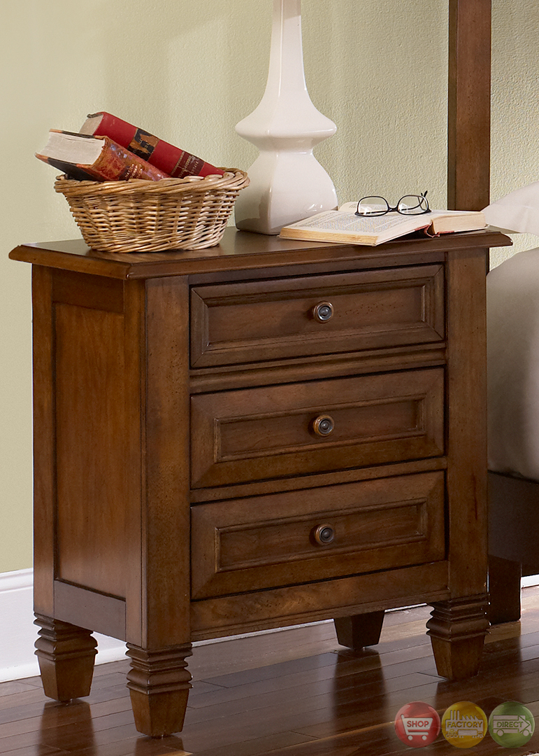 taylor springs bronze cherry panel bedroom furniture set