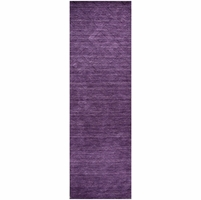 """Rizzy Home New Technique Wool Rectangular Runner Area Rug 2'6""""x 8' Purple Solid"""