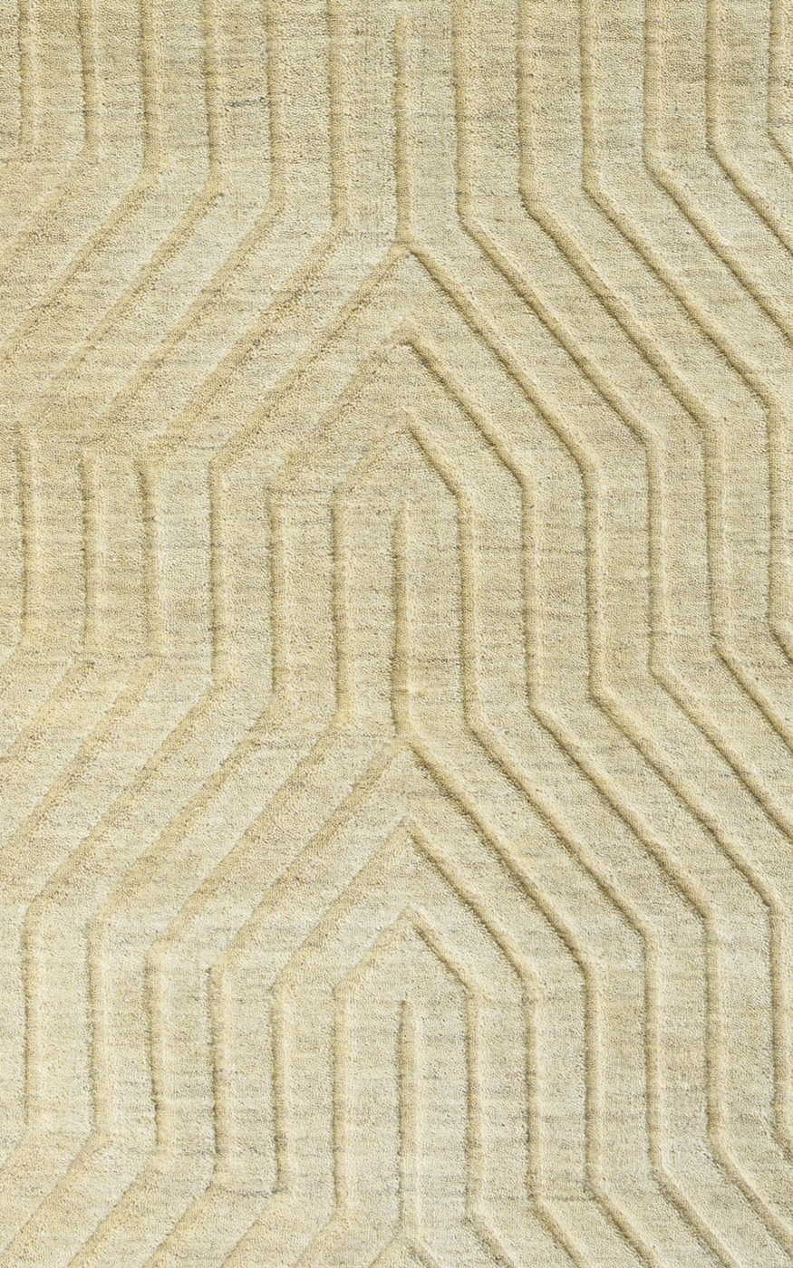 Technique Faded Ornamental Wool Area Rug In Amp Tan 9 X 12