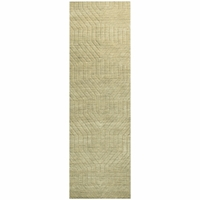 """Rizzy Home New Technique Wool Rectangle Runner Area Rug 2'6""""x 8'Tan Brown Solid"""