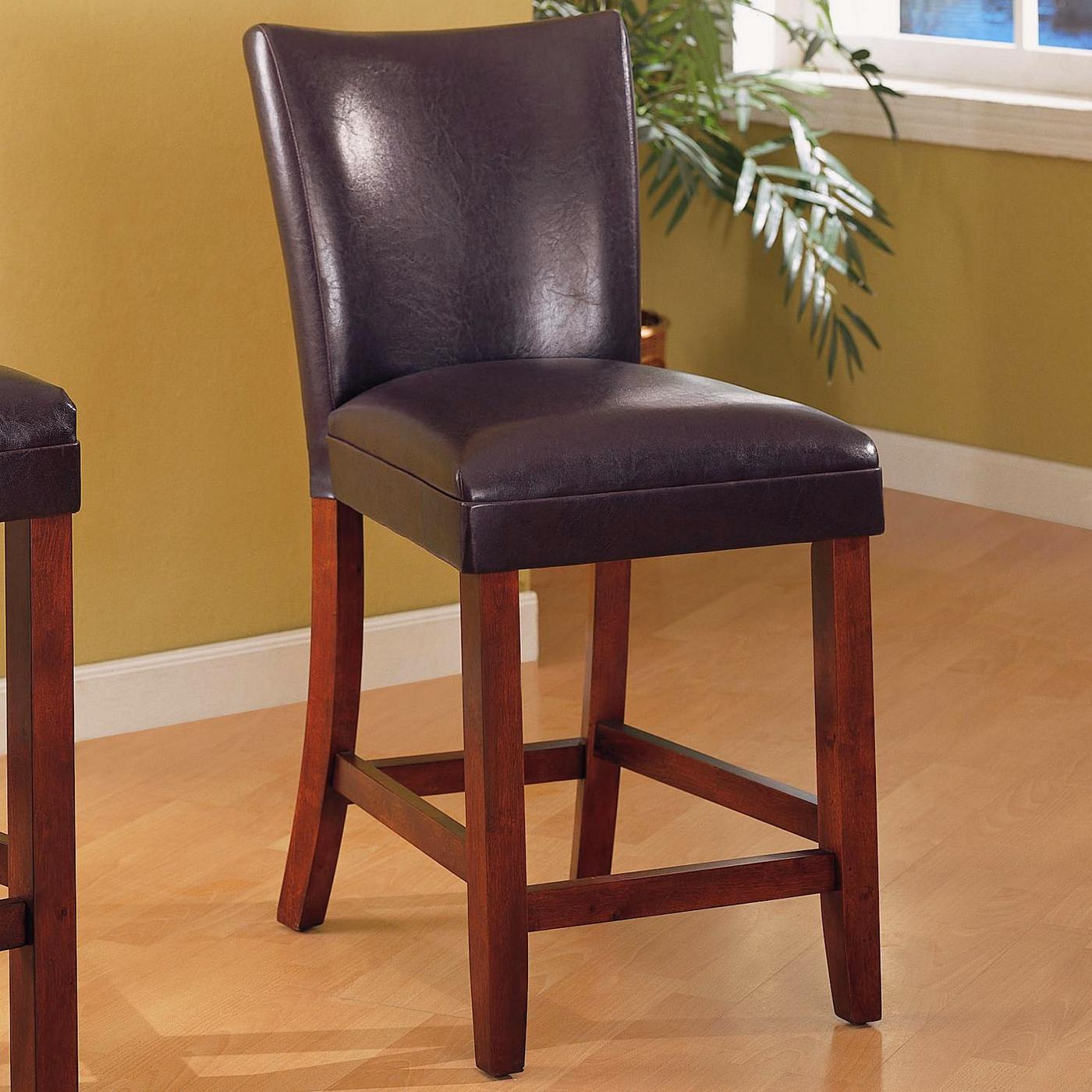 telegraph set of 2 brown fabric cherry bar stools. Black Bedroom Furniture Sets. Home Design Ideas