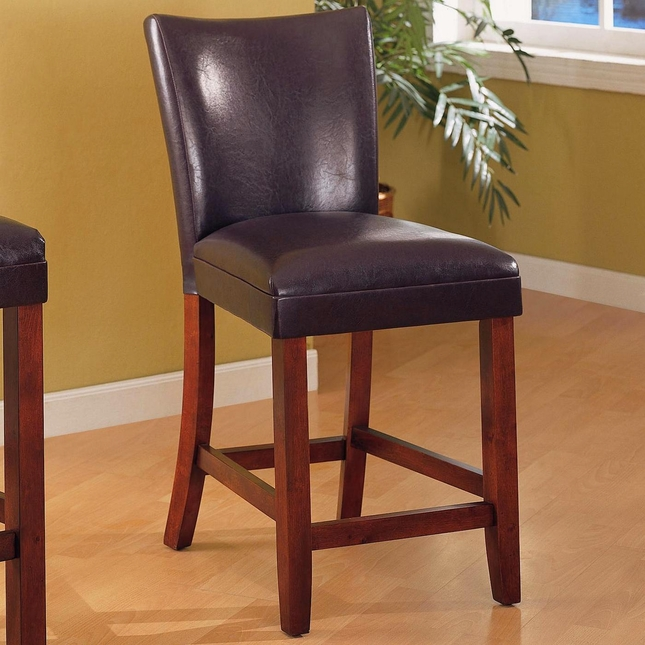 Telegraph Set of 2 Brown Fabric Cherry Bar Stools