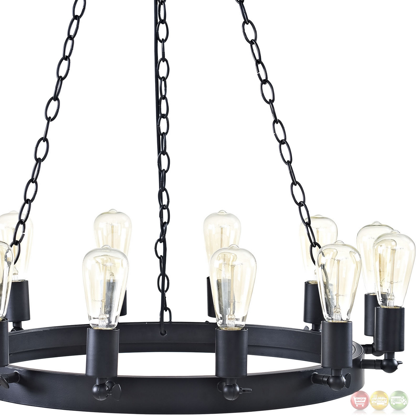 Teleport industrial 29 suspension style 12 bulb Industrial style chandeliers