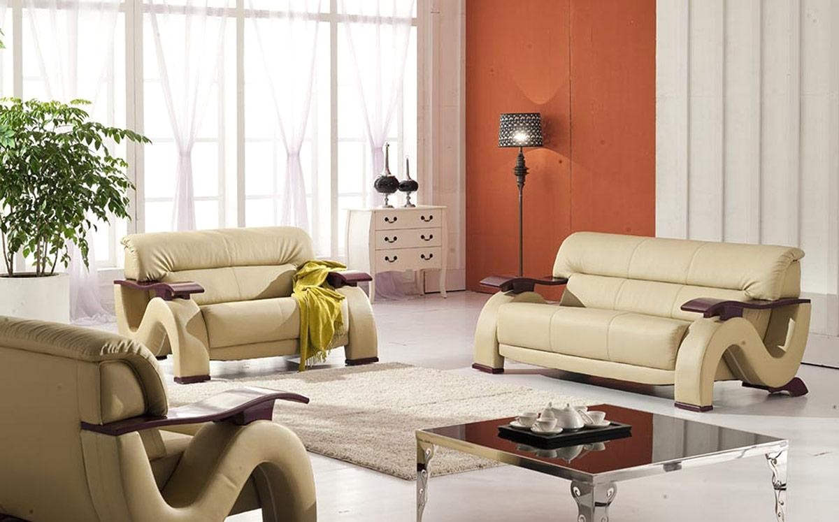 Thad Beige Ultra Modern Formal Living Room Sets With