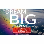 The DREAM BIG Sales Event 2018