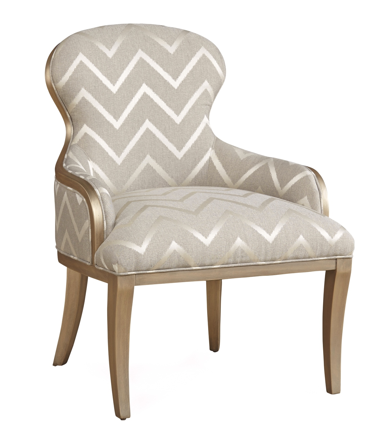 Grey And White French Accent Chair: The Foundry French Chevron Accent Chair In Grey And Champagne