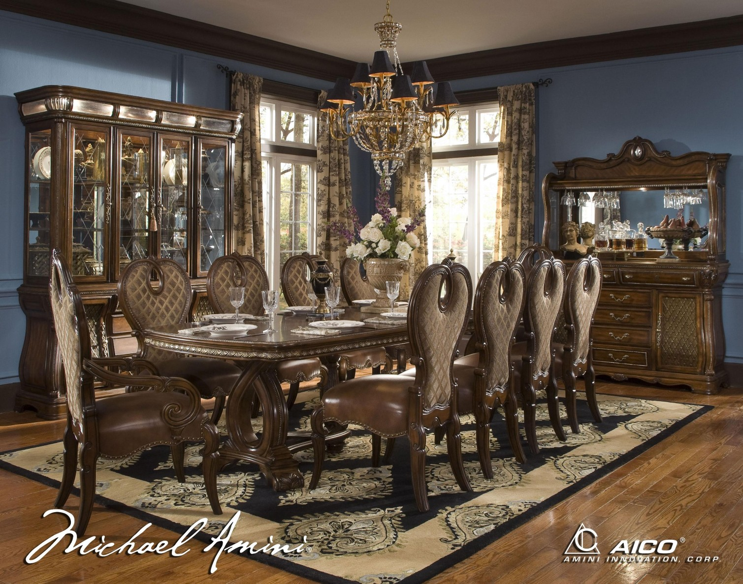 michael amini dining room furniture | Michael Amini The Sovereign Traditional Rectangular Dining ...