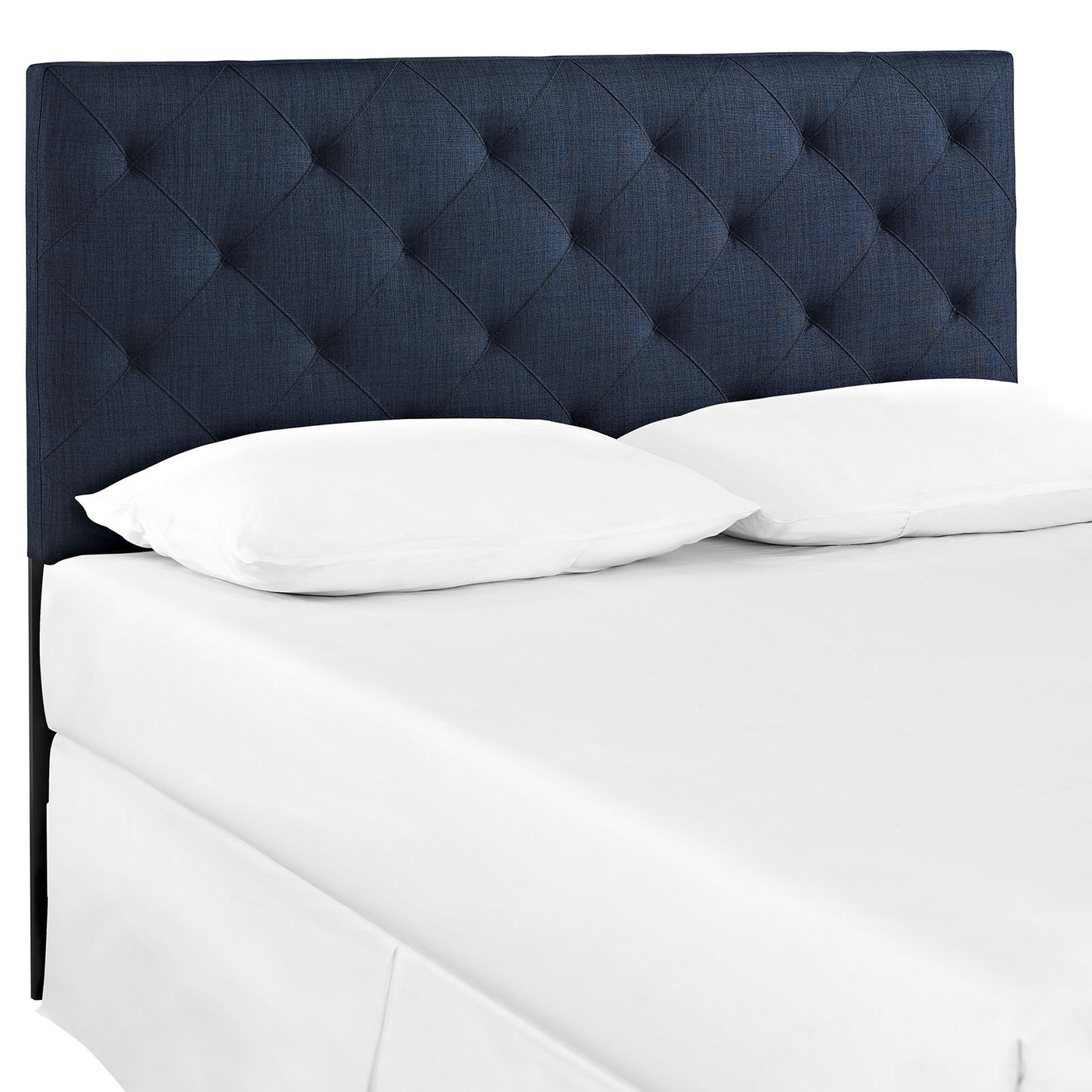 Theodore king tufted diamond pattern fabric headboard navy for Headboard patterns