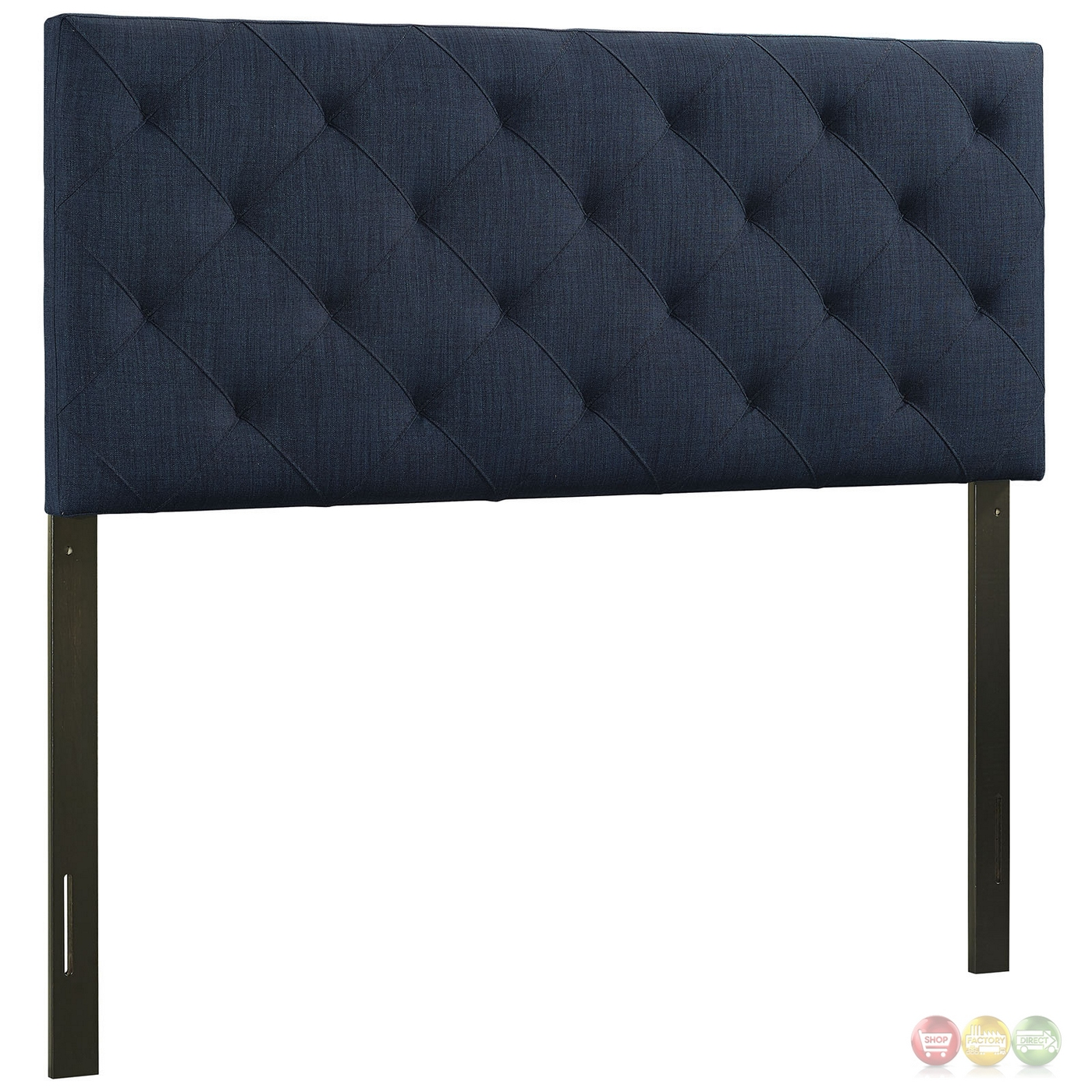 Theodore Twin Tufted Diamond Pattern Fabric Headboard Navy