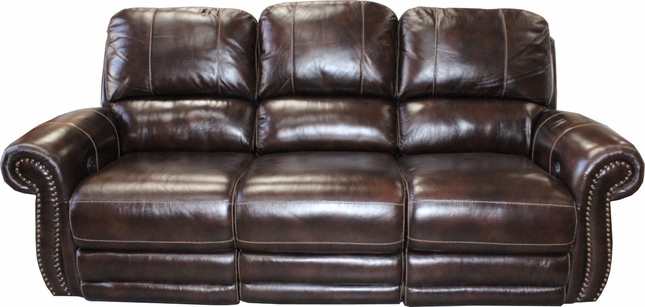 Thurston Traditional Power Reclining Genuine Leather Sofa