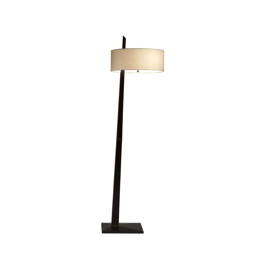 Tilt dark brown aged bronze contemporary floor lamp 11157 for Contemporary floor lighting