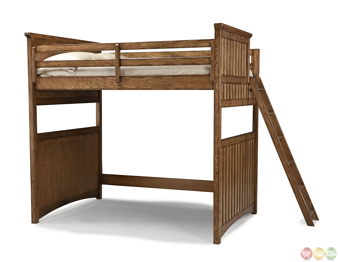 timber lodge country open loft frame full youth bed. Black Bedroom Furniture Sets. Home Design Ideas