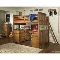 Timber Lodge Country Open Loft Frame Twin Youth Bed