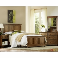 Timber Lodge Country Worn Khaki Panel Queen Youth Bed