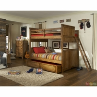 Timber Lodge Worn Khaki Full over Full Youth Bunk Bed