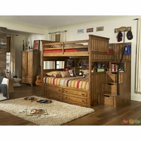 Timber Lodge Worn Khaki Full over Twin Youth Bunk Bed