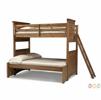 Timber Lodge Worn Khaki Twin over Full Youth Bunk Bed