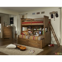 Timber Lodge Worn Khaki Twin over Twin Youth Bunk Bed