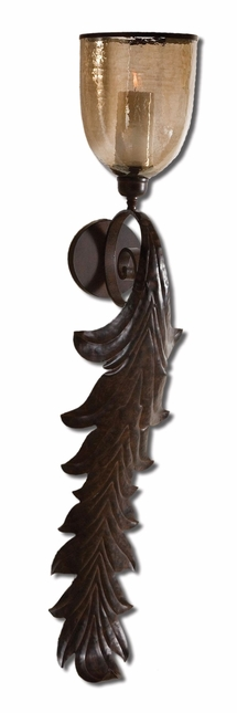 Tinella Traditional Rust Bronze Trim Wall Sconce 19732