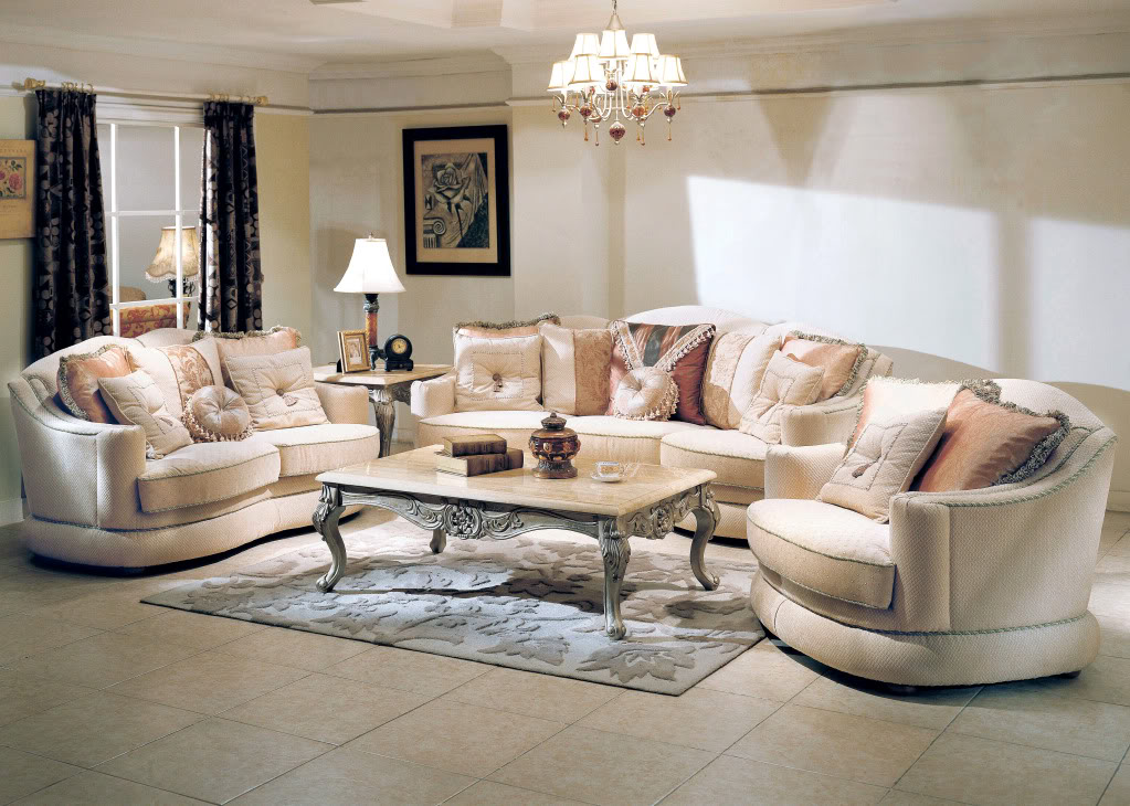 Titleist luxurious formal living room furniture set for Drawing room furniture