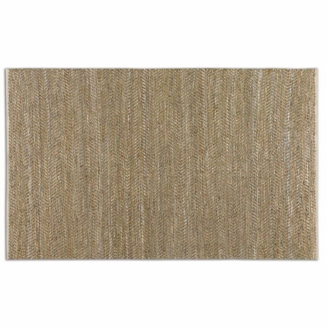 Tobais Beige Flat Weave Rescued Leather Rug 73052