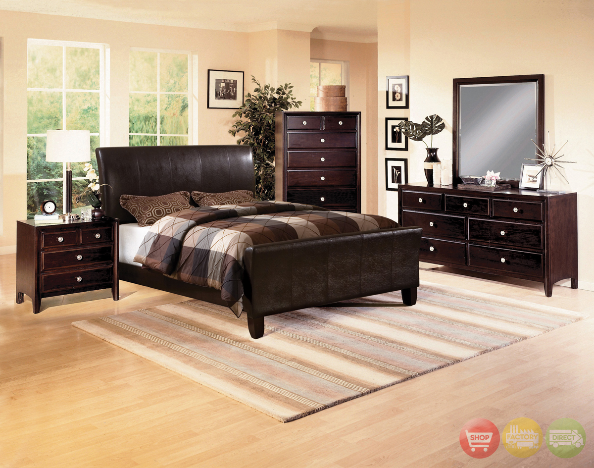 Tomas Upholstered Low Profile Bed Contemporary Bedroom Set Free Shipping