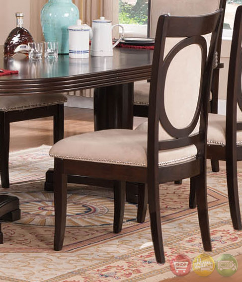Dark Wood Dining Set: Tony Transitional Dark Wood Formal Dining Set With Buffet