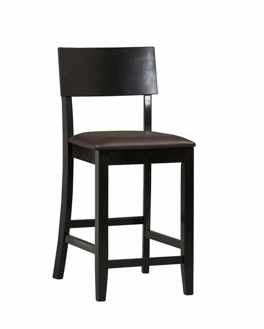 Torino Black Finish Counter Height Bar Stool